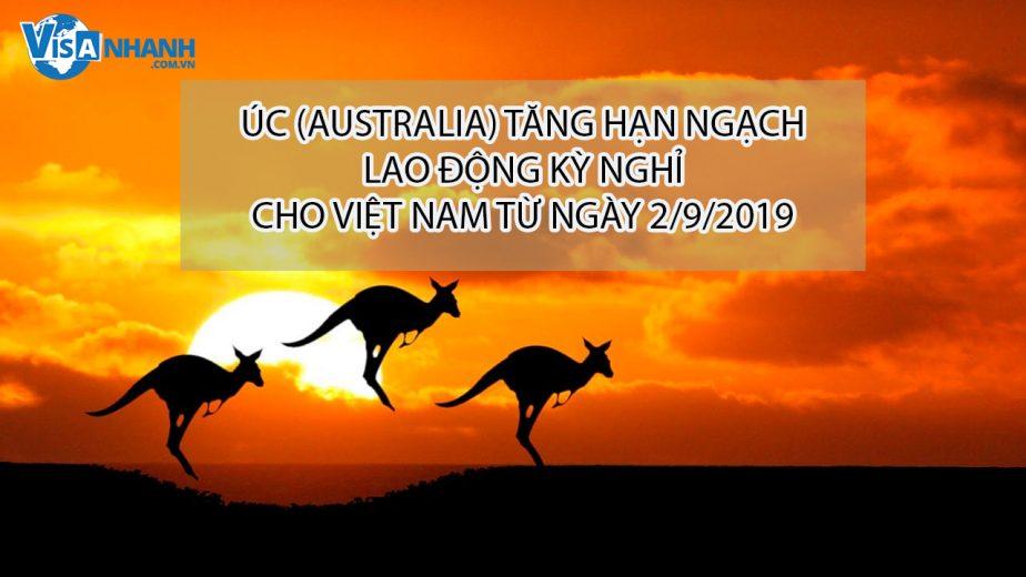 Úc (Australia) tăng hạn ngạch lao động kỳ nghỉ cho Việt Nam từ ngày 2/9/2019